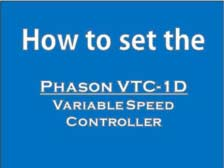 How to set the Phason VTC-1D