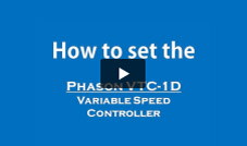 Programming the Phason VTC-1D Variable Speed Controller