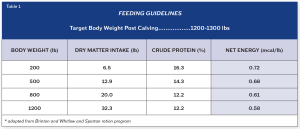 John Table Feeding Guidelines