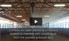 Natural Ventilation Disrupts Positive Pressure Ventilation