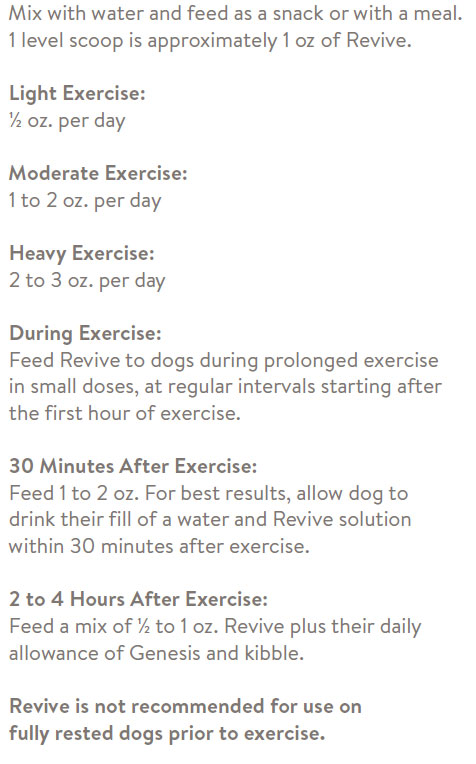 dog supplement directions