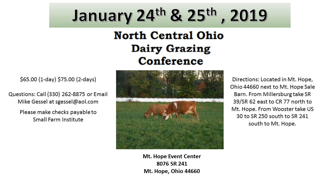 North Central Ohio Grazing Conference 2019